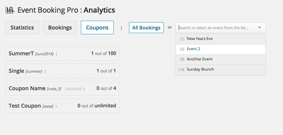 Event Booking Pro: Analytics & Checkin Addon - 6