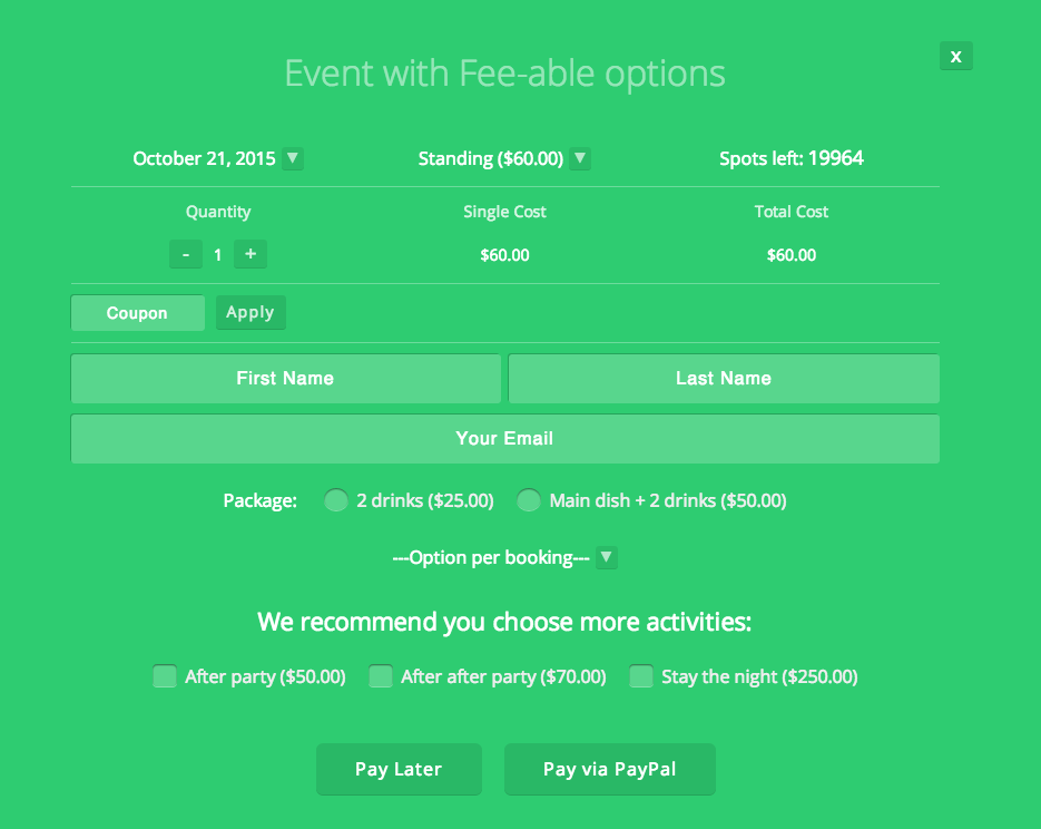 Event Booking Pro: Forms Extra Add on - 2