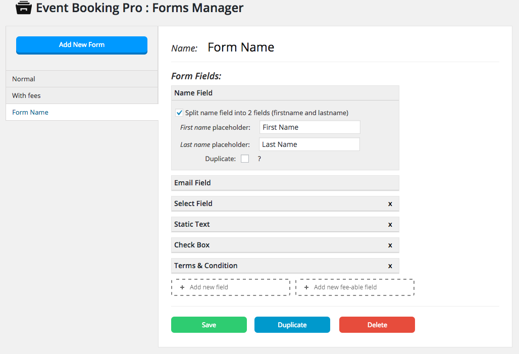 Event Booking Pro: Forms Manager Add on - 3